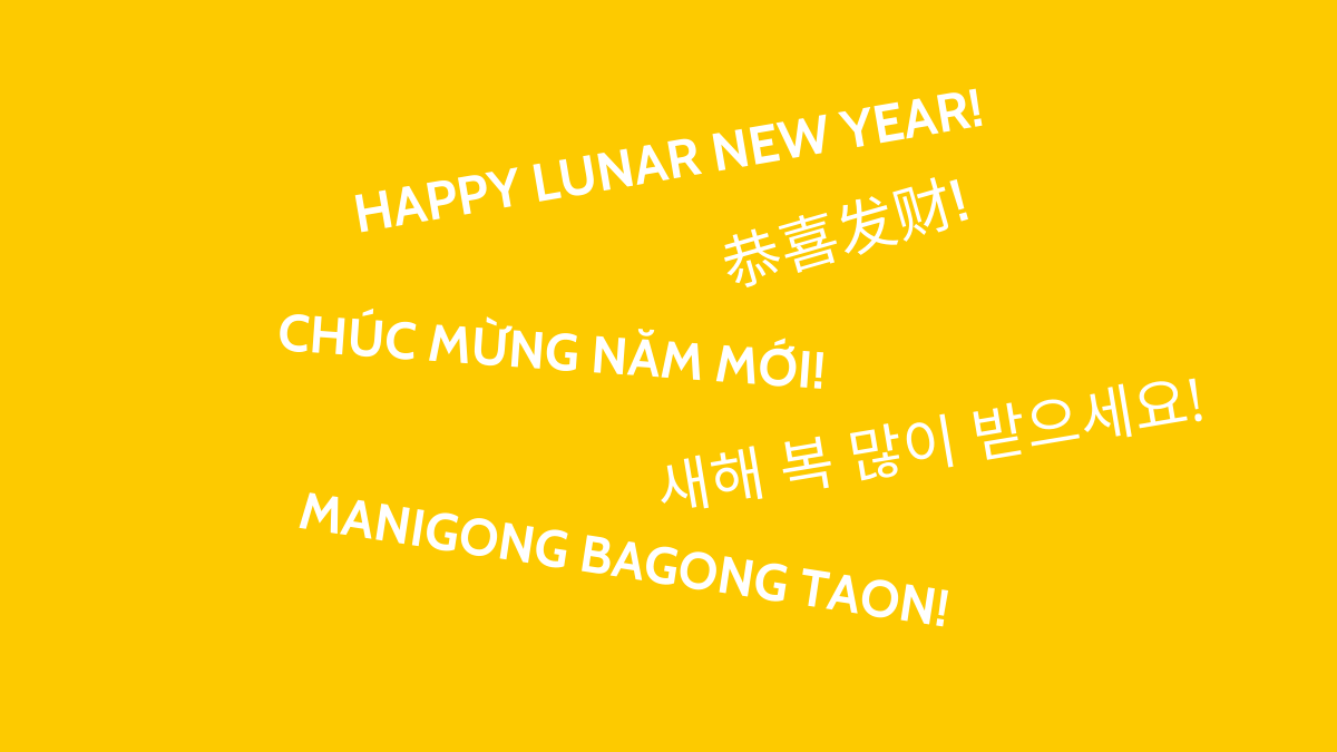 "Say ""Happy Lunar New Year"" for a more inclusive holiday greeting"