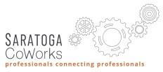 Logo & link to coworking spot Saratoga Coworks