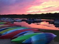 Kayak Shak at sunset