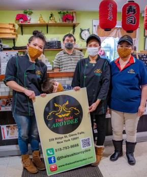 Employees at Thai Sushi Aroydee