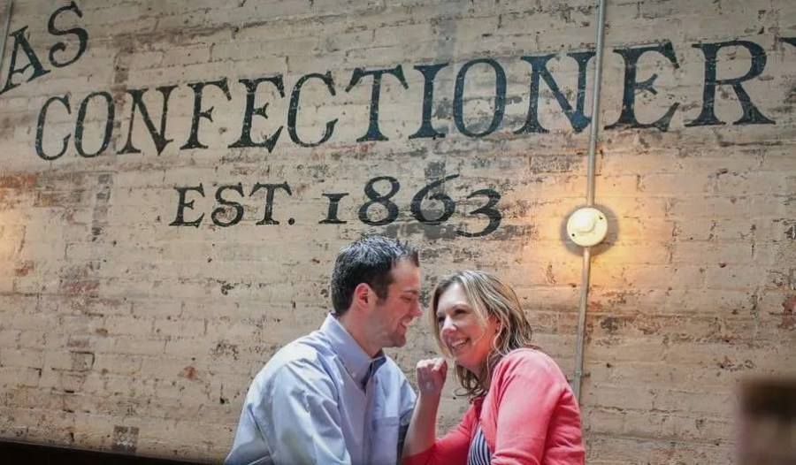Couple at The Lucas Confectionary