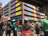 Bike tour of art in downtown Albany
