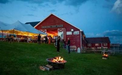 Dancing Ewe Farm at dusk