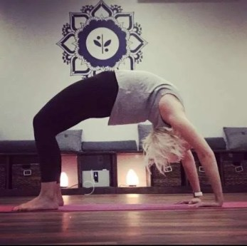 Becky doing Yoga