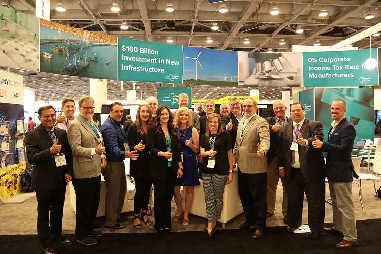 Team at Semiconductor Tradeshow Representing New York State