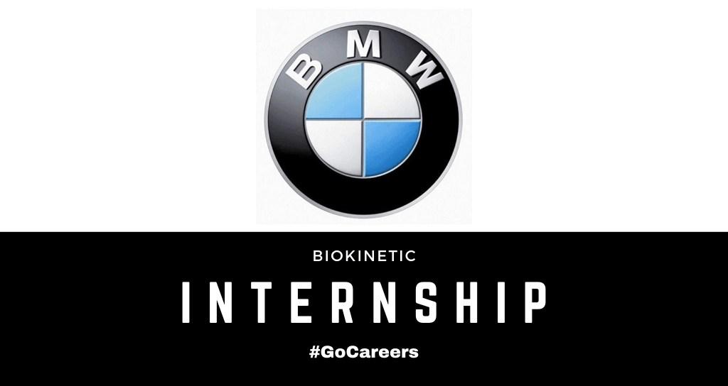 Bmw Sa Biokinetic Internship 2021 Gocareers