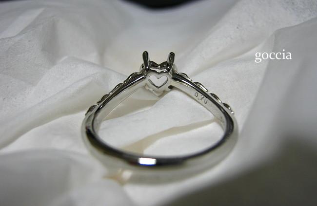 ダイヤを入れる前の婚約指輪