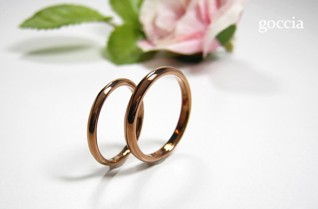 K18ブラウンゴールドの結婚指輪
