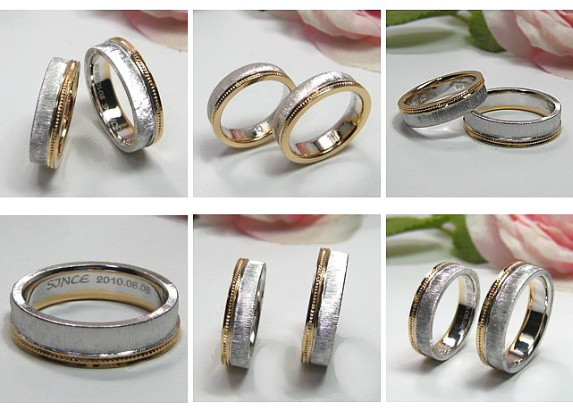コンビ・ミル打ちの結婚指輪