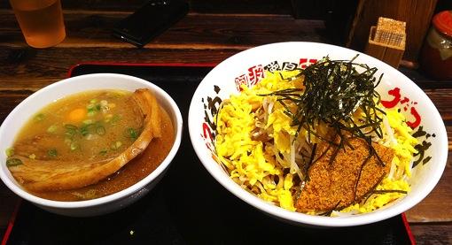 早稲田 うだつ食堂 全部入りつけ麺 徳島ラーメン