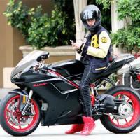 Justin Bieber's bike almost ran on old woman