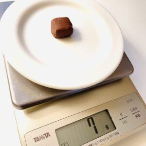 ブラックサンダーひとくちサイズの重さ計測