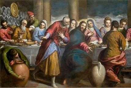Corazón místico de Maria en Las bodas de Caná