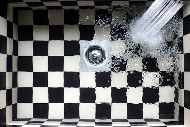 kitchen sink or shower drainage
