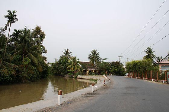 Vĩnh Hựu Gò Công Tây Tiền Giang Việt Nam Ba chiếc cầu bắc qua kinh SALICETTI nội thị