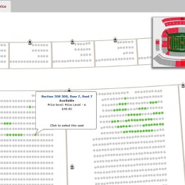 Only 8 rows available in those 3 sections at $40 each.