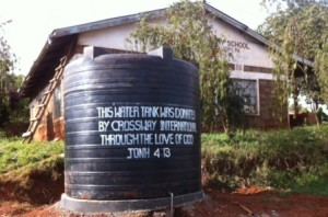 New water tank at Githungungu Primary School COM