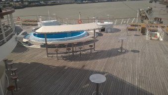 View to Pools & Whirlpools on Columbus Deck 10