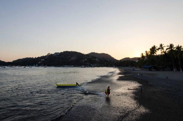 Sunset over Playa Principal