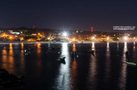 Zicatela Beach at Night