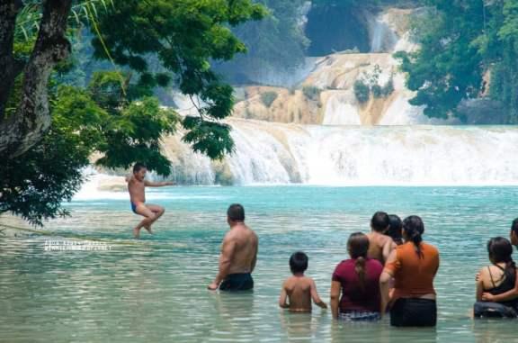 Young Tarzan Enjoying the Local Swimming Hole