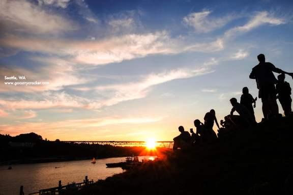 Sunset at Gasworks Park