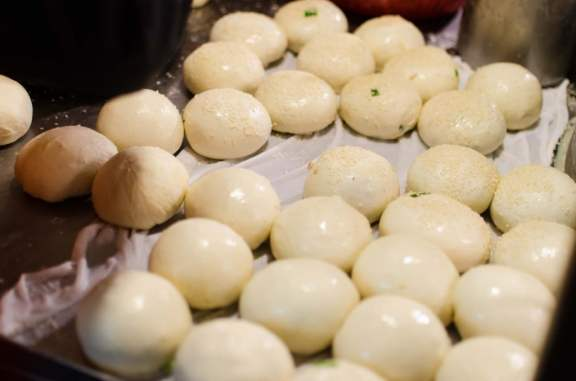 Pepper Buns Ready for the Oven
