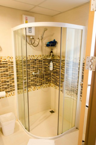 Shower and Gas Powered Hot Water Heater