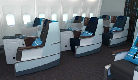 KLM World Business Class (photo from The Points Guy)
