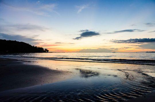 Sunset View from the Beach Bar, Koh Lanta, Thailand