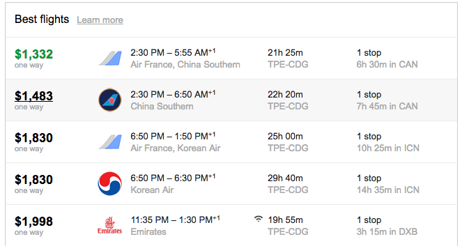 how to search flights with long layovers