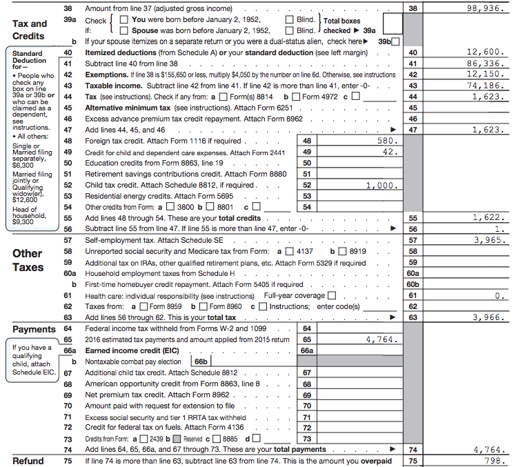 The Go Curry Cracker 2016 Taxes – Qualified Dividends and Capital Gain Tax Worksheet