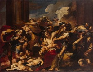 Massacre of the Innocents by Valerio Castello, Italy, 1656-1658, oil painting on canvas