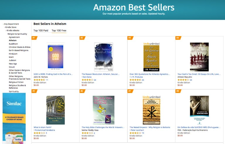 #1 Amazon Best Seller in Atheism Free Category