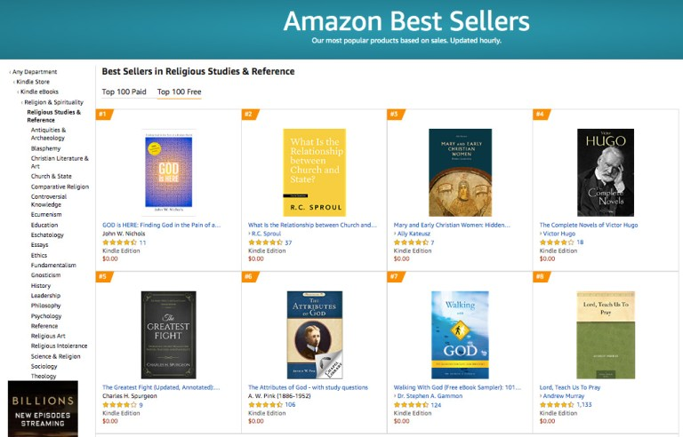 #1 Amazon Best Seller in Religious Studies & Reference Free Category