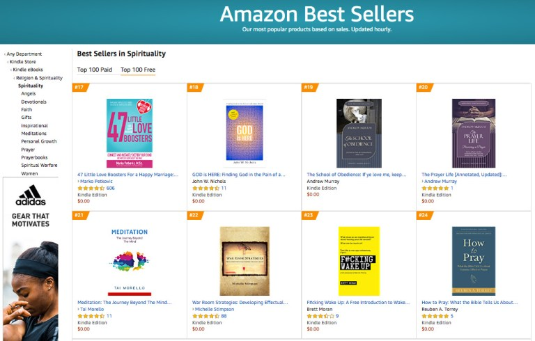 Top 20 Amazon Best Seller in Spirituality Free Category