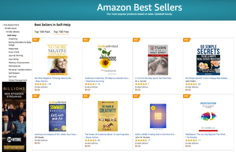 Top 50 Amazon Best Seller in Self-Help Free Category