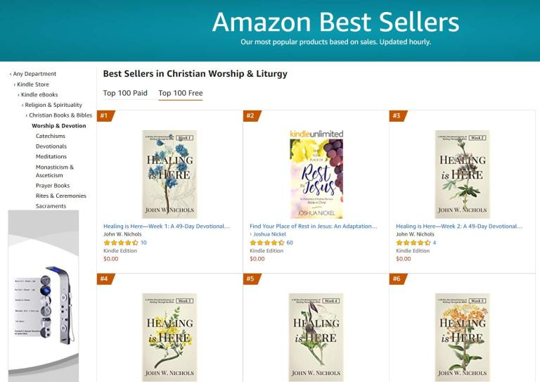 #1 Amazon Best Seller in Christian Worship and Literature Free Category