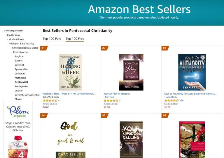 #1 Amazon Best Seller in Pentecostal Christianity Free Category