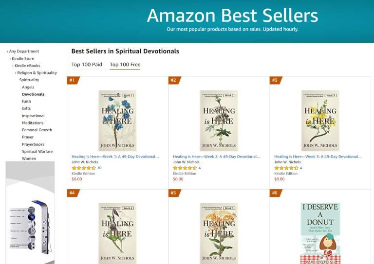 #1 Amazon Best Seller in Spiritual Devotional Free Category