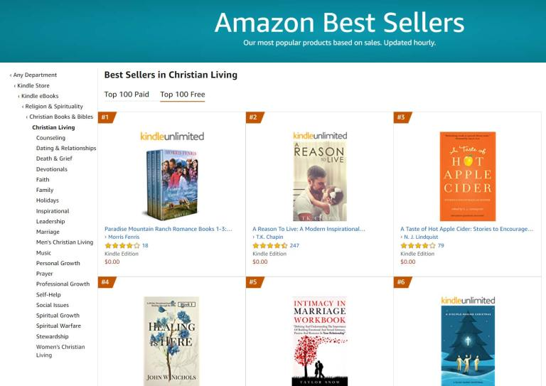 Top 4 Amazon Best Seller in Christian Living Free Category
