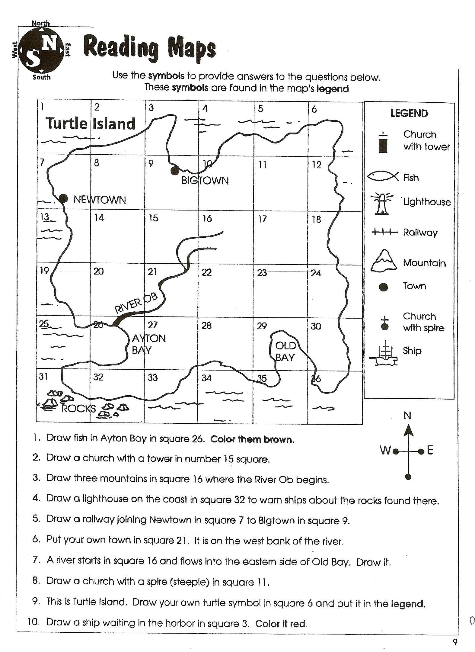 2nd Grade Map Skills Worksheets