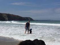 Checking out the surf