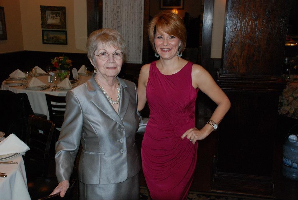 Laverne on her 80th birthday