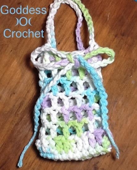 Netted Soap Saver Scrubbie Goddess Crochet