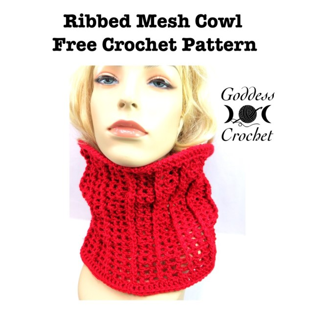 free crochet pattern, cowl crochet pattern, goddess crochet