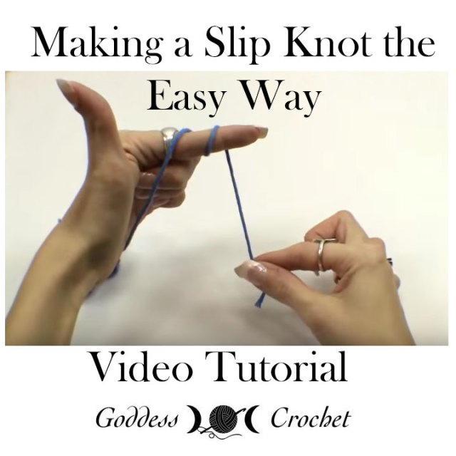 Crochet video tutorial - Making a Slip Knot the Easy Way