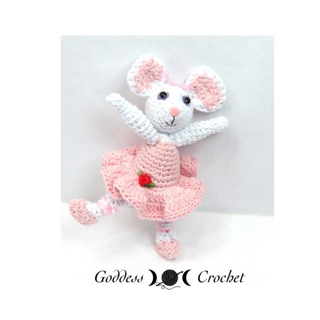 Angelina Ballerina, crochet amigurumi, goddess crochet