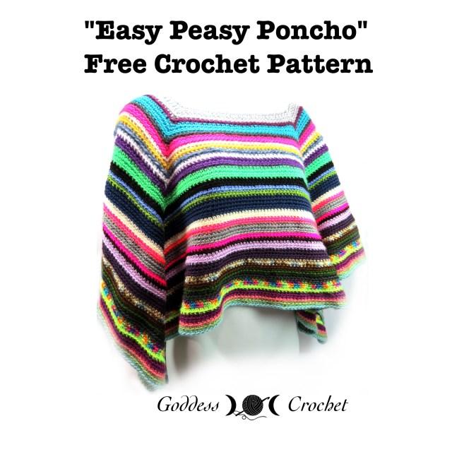 Crochet poncho pattern, free crochet pattern