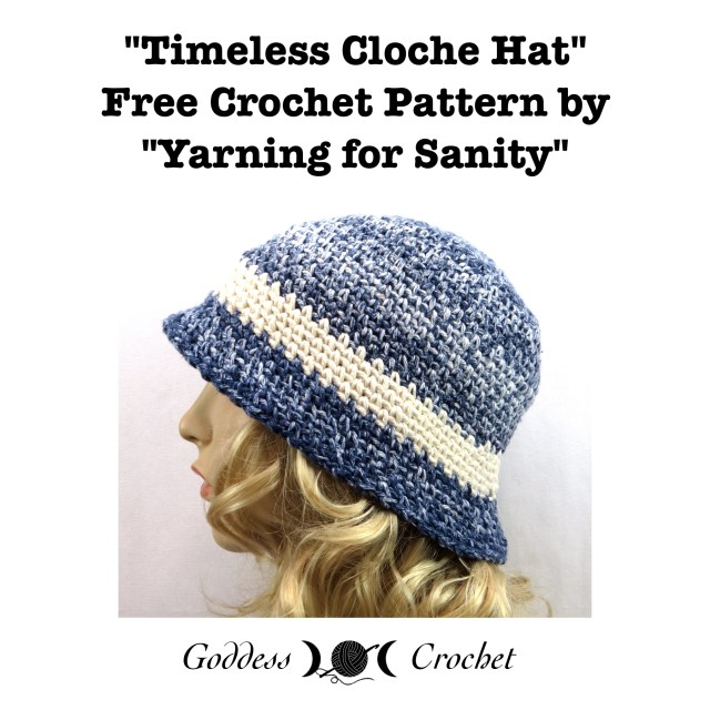 Timeless Cloche Hat Free Crochet Pattern Goddess Crochet